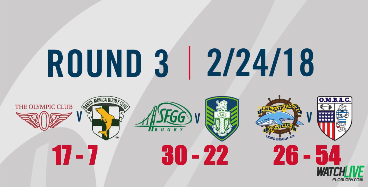 Round 3 Match Reports