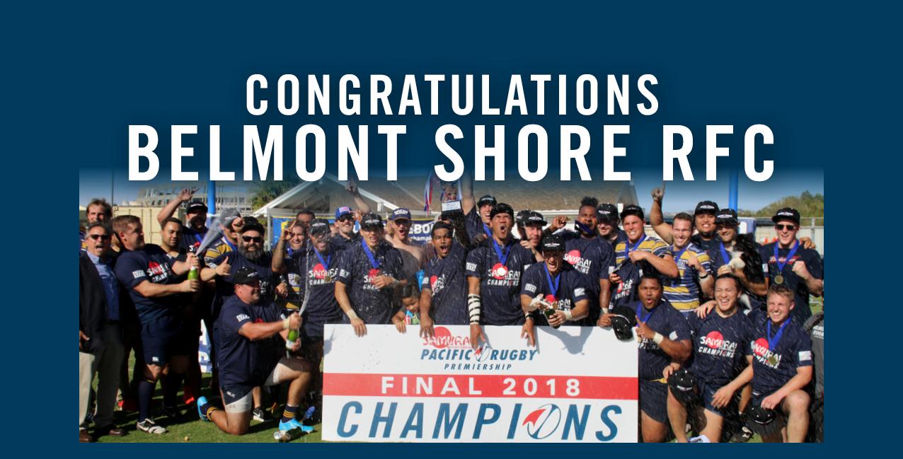 Belmont Shore RFC – PRP Champions 2018